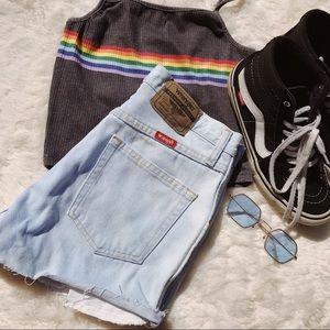 High waisted wrangler shorts